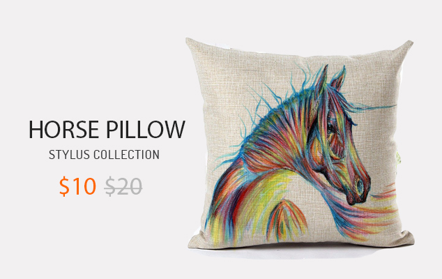NEW ARRIVAL HIGH QUALITY HORSE HOME LIVING COTTON LINEN DECORATIVE PILLOW
